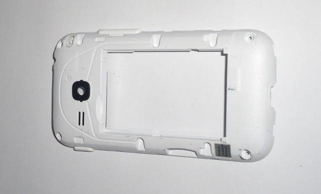 Carcaça Chassi Samsung Galaxy C3312 Branca Semi Nova