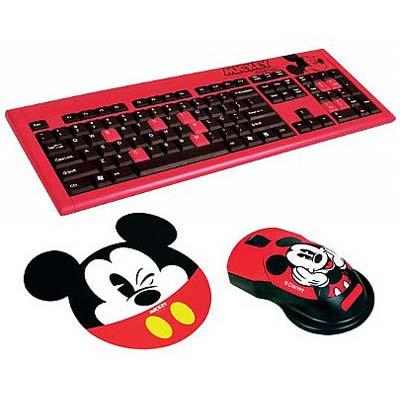 KIT TECLADO+MOUSE USB CLONE 9190 - MICKEY