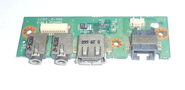 Placa Conector USB Aúdio P2 Notebook Positivo Mobile Z94