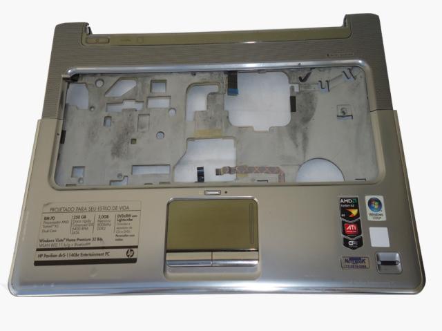 Carcaça Superior Notebook HP Pavillion DV5-1140 / 1120BR Cinza Semi Nova