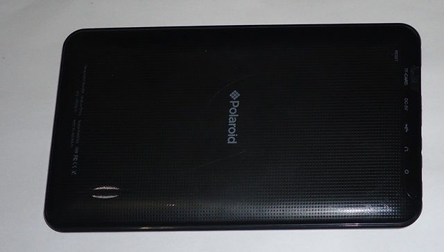Tampa Traseira Tablet  TAB Polaroid PMID705 Preta Semi Nova