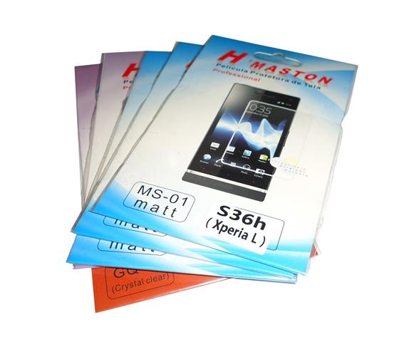 Kit 5 Películas Plástico Sony Xperia L S36h