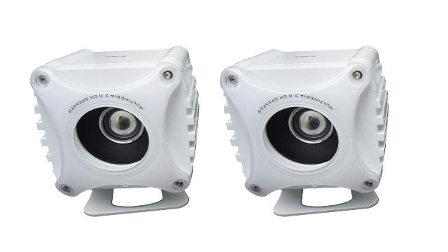 Caixa de Som HY-206 2.0 USB Branco 1W  RMS