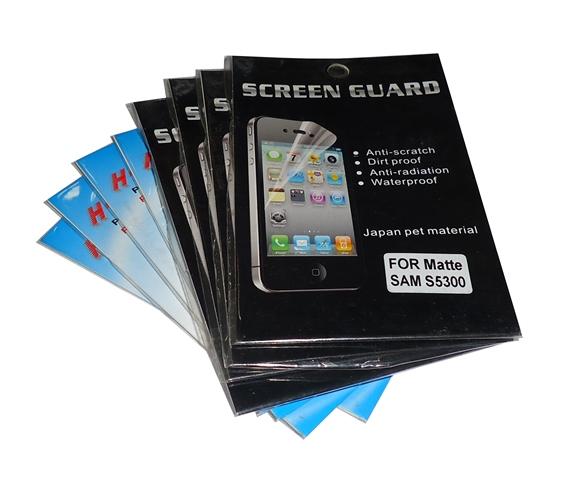 kit 8 Películas Plástico Samsung Galaxy Pocket GT-S5300