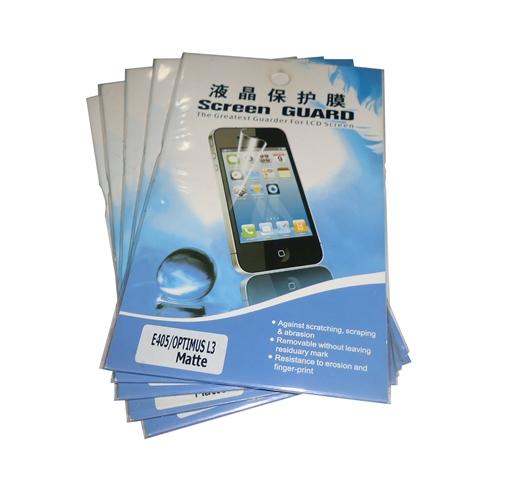 kit 5 Películas Plástico LG Optimus L3 E405