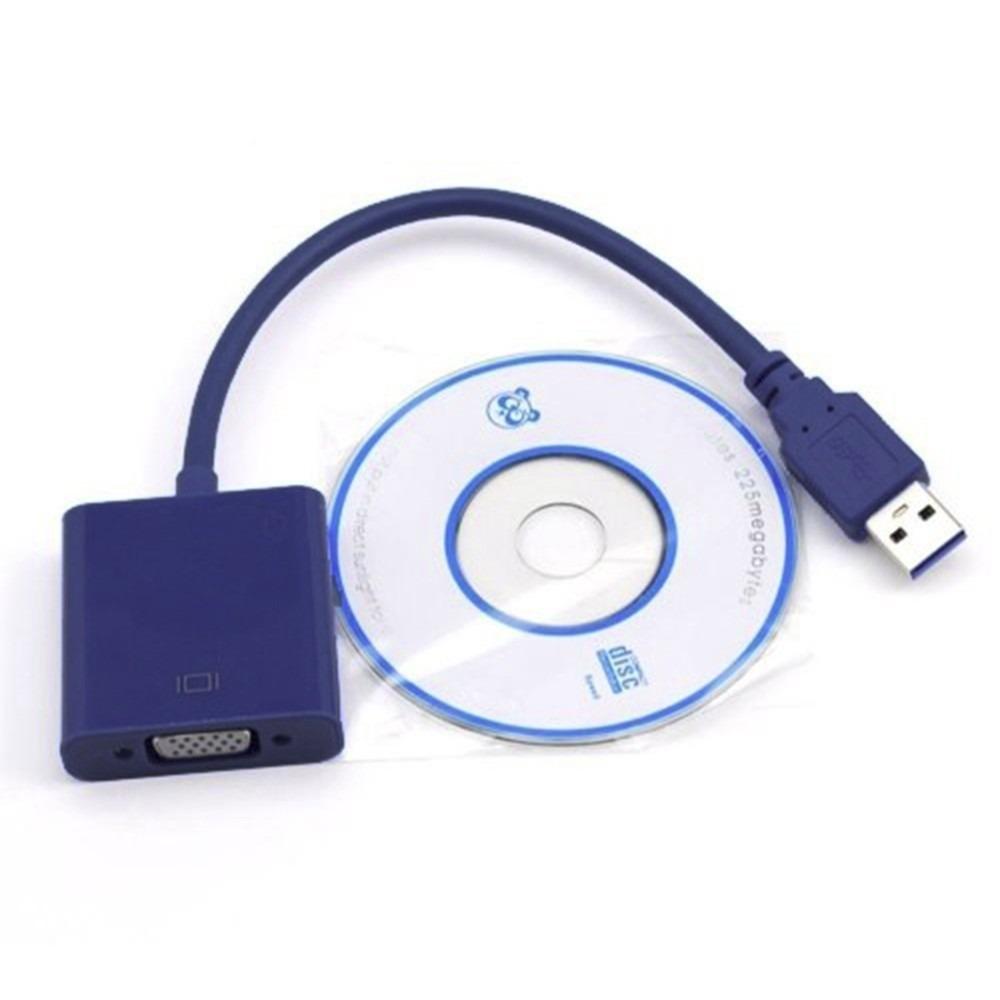 Adaptador USB 3.0 P/ VGA Resolução Até 1920x1080