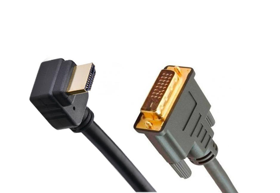 Cabo HDMI C/ Curva x DVI- D 2 Metros