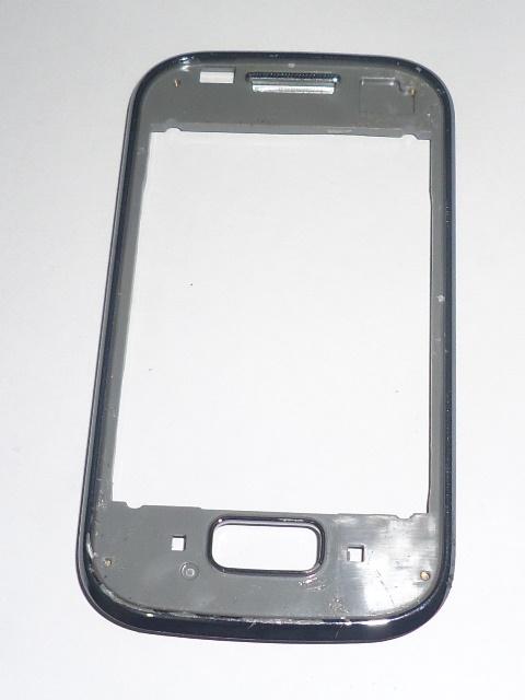 Carcaça Aro Samsung Galaxy Pocket S5302 Cinza Semi Nova