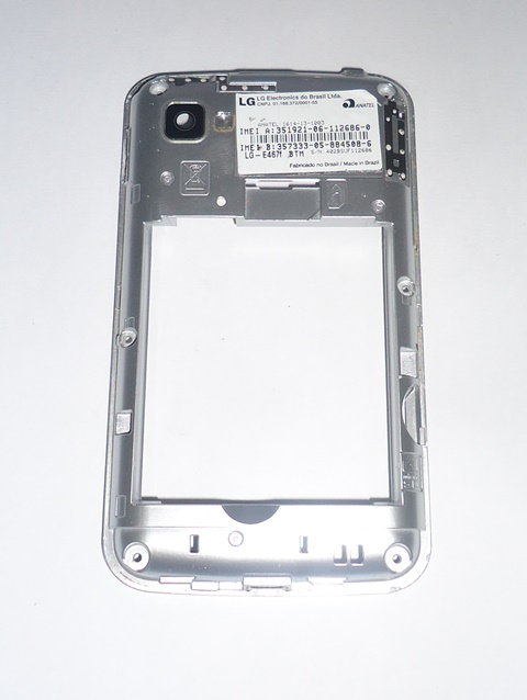 Carcaça Chassi LG Optimus E467F Cinza Semi Nova