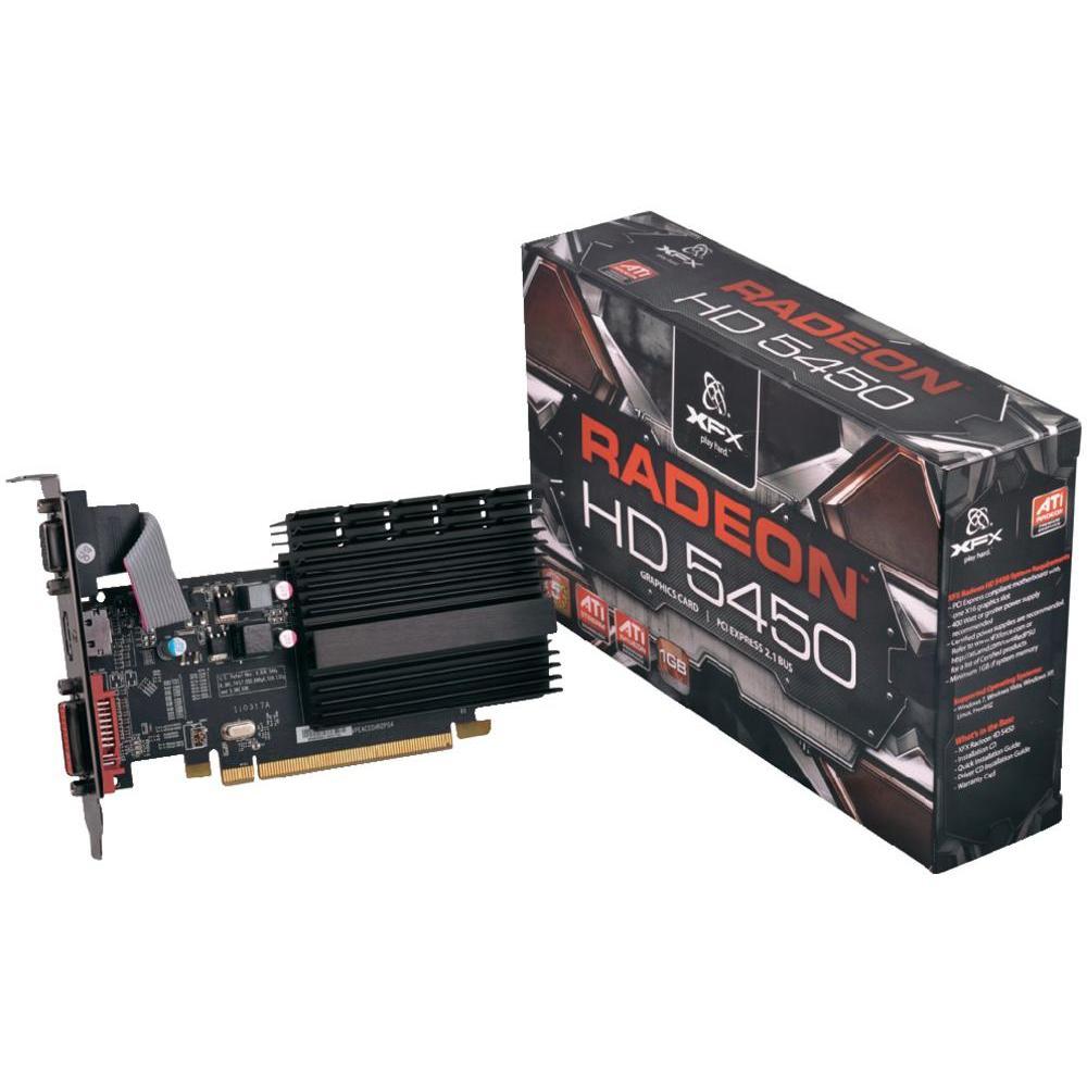 Placa de vídeo VGA XFX AMD ATI Radeon HD5450 1GB DDR3 64-Bit PCI-Express 2.1 x16 - HD-545X-ZQH2