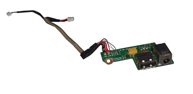Placa Conector de Carga e USB Notebook  HP Pavilion DV6700