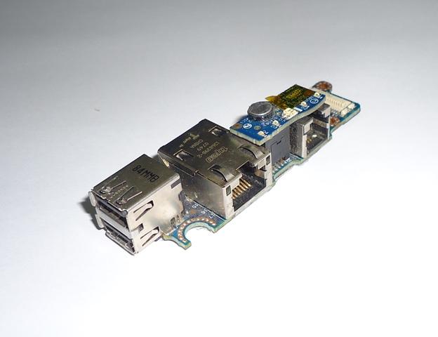 Placa Conector USB RJ11 RJ45 Notebook Dell Latitude D630 PP18L
