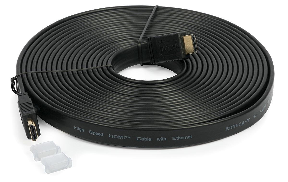 Cabo HDMI Macho x HDMI Macho Flat 1.4 10 metros 1080p Full HD