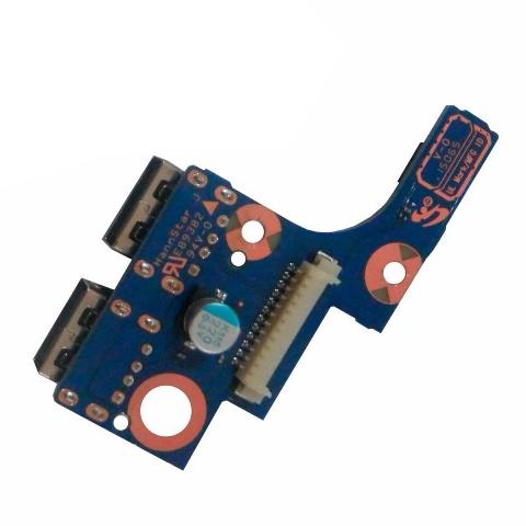 Placa Conector USB e Botão Power Samsung NP275E4E  BA92-11765A