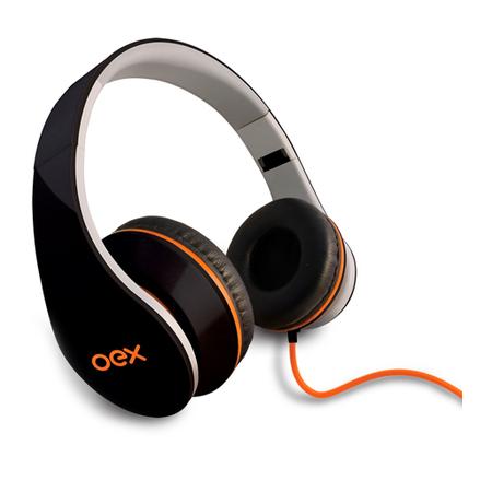 Fone HP-100 Oex Headphone Sense C/ Microfone Preto
