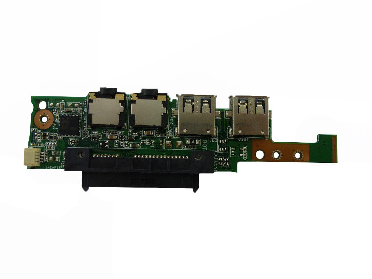Placa Áudio e Conector USB Sata Notebook Asus EEPC 1005HA 08G2035HA13Q
