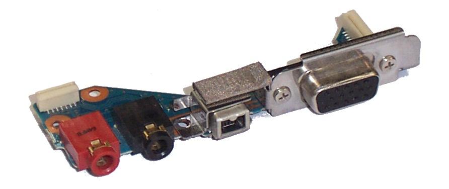 Placa Conector VGA e Áudio CNX-348 Notebook Sony Vaio PCG-6L1M
