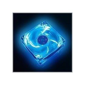 Cooler p/ Gab Maxpower 120x120x25 Black/Transparente Neon Azul