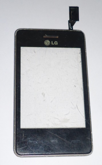 Tela Touch C/ Aro Celular LG-T375 Preto e Cinza Semi Nova