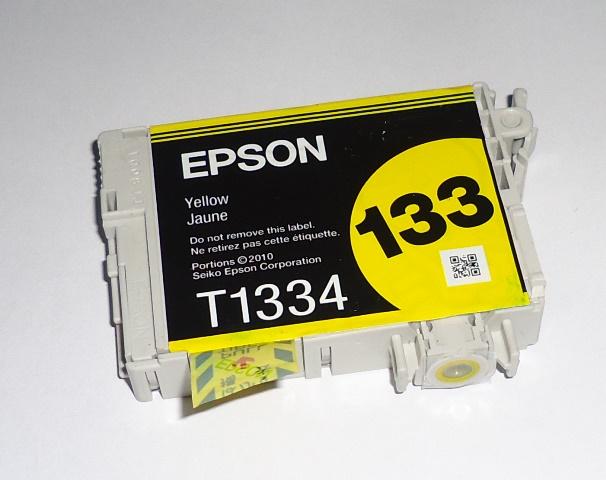Cartucho Amarelo Impressora Epson 133 Amarelo Original Sem Embalagem