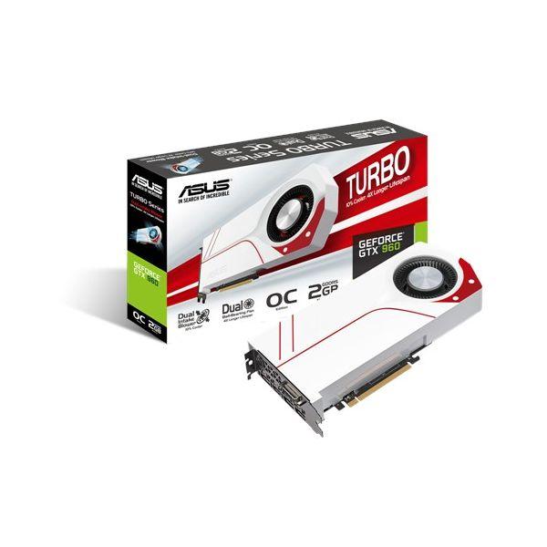Placa de Vídeo Asus Turbo VGA GTX 960 2GB  OC DDR5 90YV07N5-M0NA00