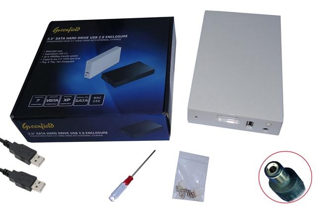 Case P/ HD 3.5 Polegadas Sata Branco Greenfield USB 2.0