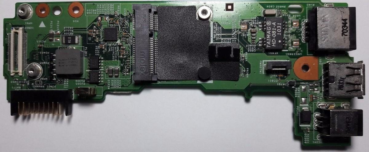 Placa Conector de Carga USB e RJ45 Dell Inspirion N4030