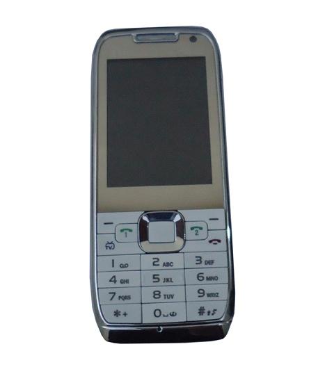 Celular MP10 E71 Bluetooth Dual Chip Câmera Cinza e Branco