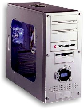 Gabinete Midi Torre GoldShip 1478 Prata S/ Fonte