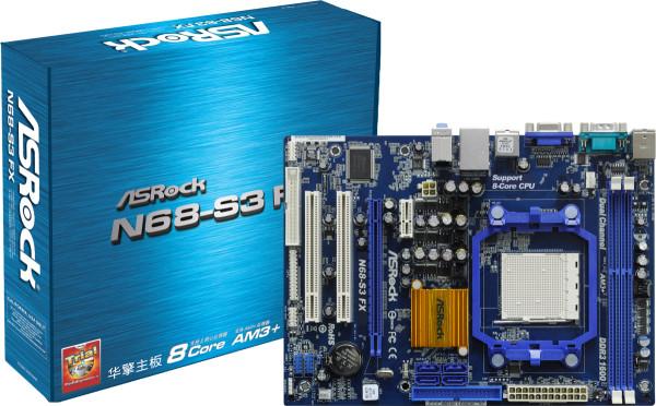 Placa Mãe Asrock N68-S3 FX AM3 DDR3 Semi Nova