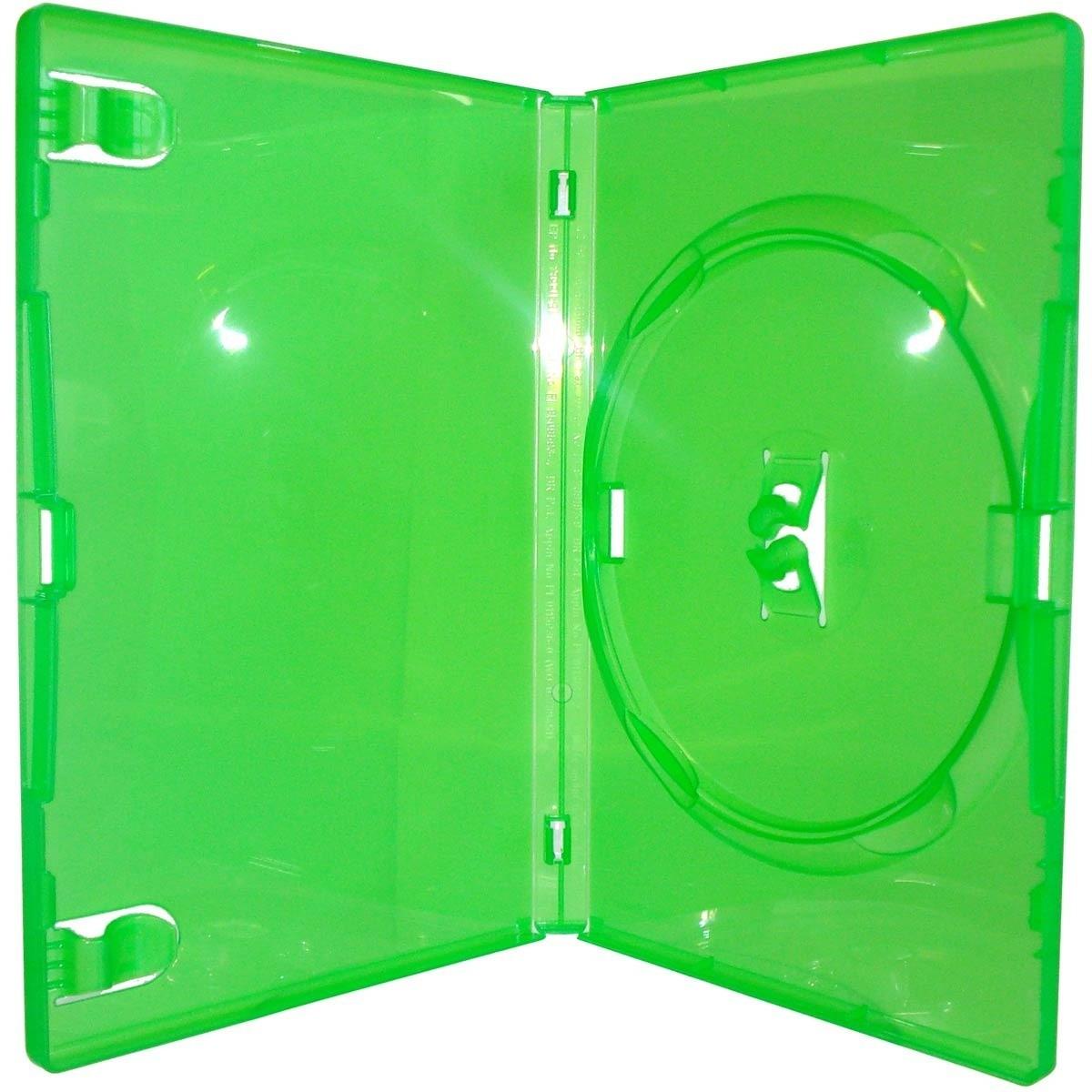 Estojo Capa Dvd Box Amaray Verde Grosso Caixa C/200 Unidades