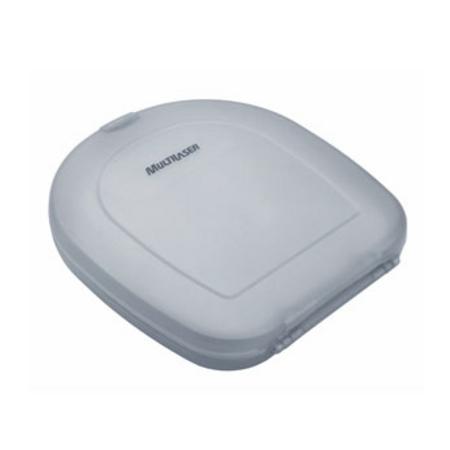 Porta CD Multilaser Plastico Prata P/ 12 Unidades CAPLA012PT