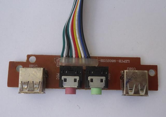 Painel Frontal 2 Portas USB e 2 Portas Áudio P2 P/ Gabinete