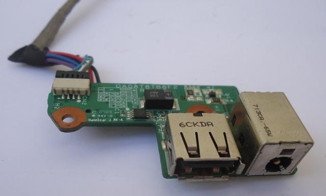 Placa  Conector Carga e USB P/ Notebook