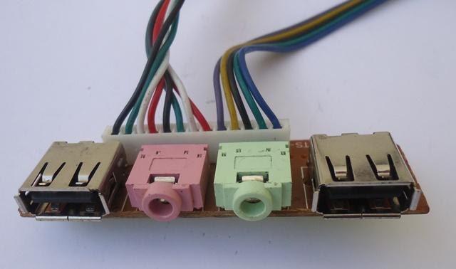 Placa Conector USB e Áudio  P/ Gabinete