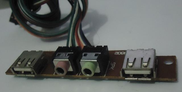 Placa Conector Áudio e USB P/ Gabinete