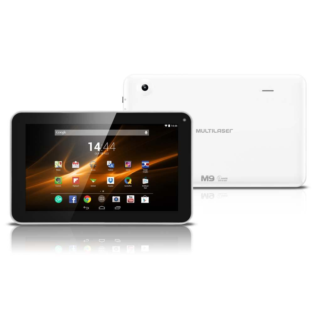 Tablet Multilaser M9 NB175 Wi-Fi  Android 4.4 8GB Quad Core 1.2 GHz Branco