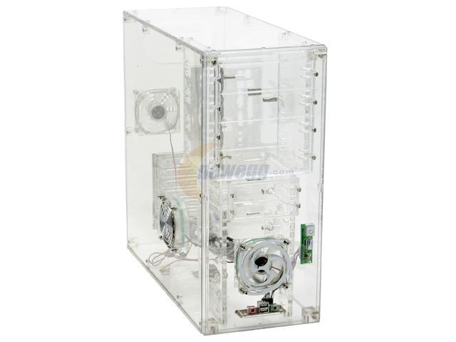 LOGISYS Computer CS888CL Transparent Clear Acrylic ATX Mid Tower Computer Case