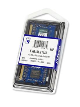 Memória Kingston SODIMM 4GB 1600MHz DDR3L CL11 - KVR16LS11/4  P/ Notebook