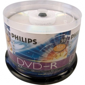 DVD-R PHILIPS C/ 50 UNIDADES