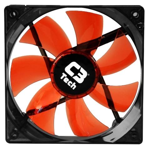 Cooler Fan Led Vermelho C3 Tech F7-L100RD Storm 12cm