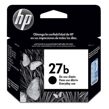 Cartucho de Tinta HP - 27B Preto