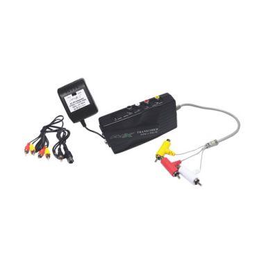 Transcoder Universal p/ TV Antiga Multi RF FX-TC01 - Preto