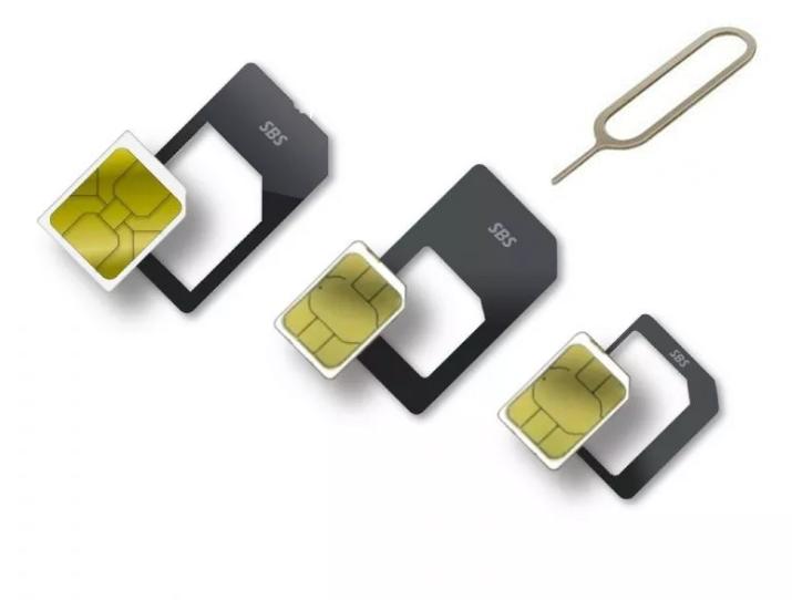 Kit 3 Adaptador p/  Chip Sim de Celular Micro Chip Nano Chip