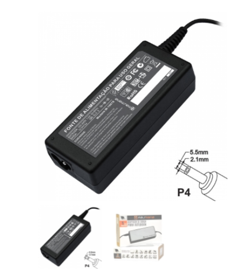 Fonte Universal 12v 5a Plug P4 5.5mm x 2.1mm - 678