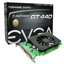 PLACA DE VÍDEO GT440 1GB DDR3 MINI HDMI - EVGA