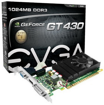 PLACA DE VÍDEO GEFORCE GT430 1GB DDR3 PCI-EXPRESS EVGA