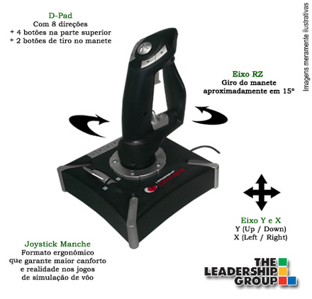 JOYSTICK MANCHE COMMANDER - LEADERSHIP - Cód. 6731