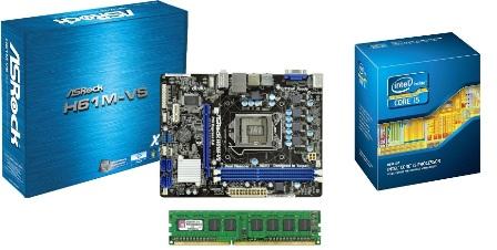 KIT 1155 ASROCK H61M-VS B3 + I5 2300 2.8GHZ + 2GB 1333MHZ KINGSTON