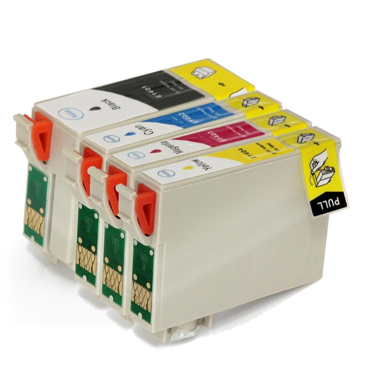 Kit 4 Cartuchos Compatíveis 140 Epson TX5600 / TX620